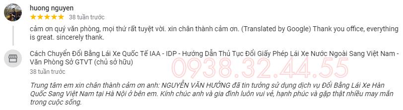Khách hàng đổi bằng lái xe Hàn Quốc sang Việt Nam khi sử dụng dịch vụ đổi giấy phép lái xe tại văn phòng Doanh Nhân Việt