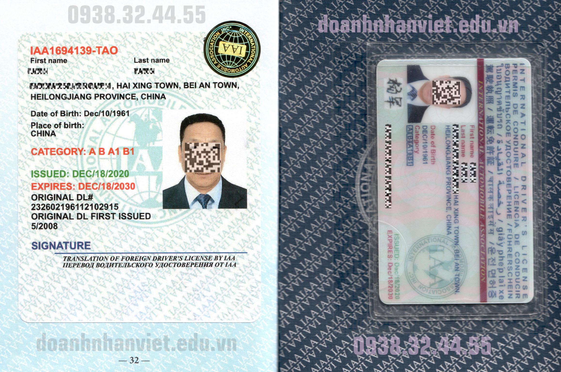 Đổi bằng lái xe Việt Nam sang Quốc Tế IAA