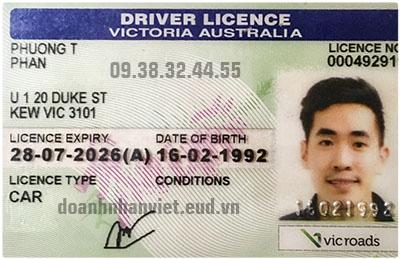 Đổi bằng lái xe Úc sang Việt Nam