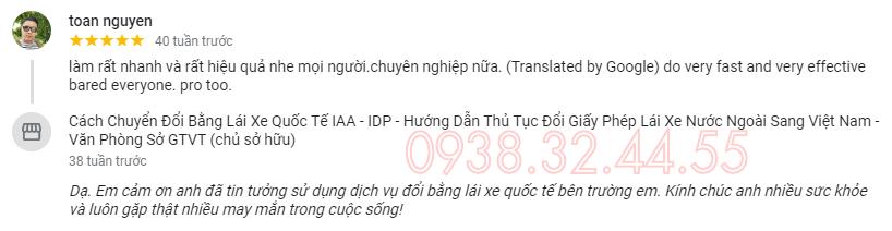 Đổi giấy phép lái xe quốc tế sang Việt Nam