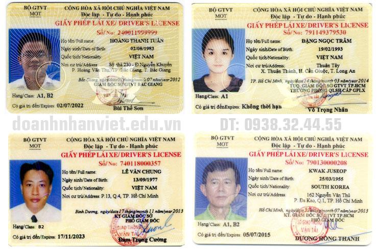Mẫu giấy phép lái xe Việt Nam
