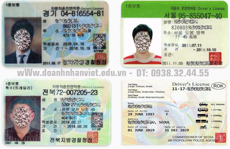 Đổi bằng lái xe Ô tô Hàn Quốc sang Việt Nam