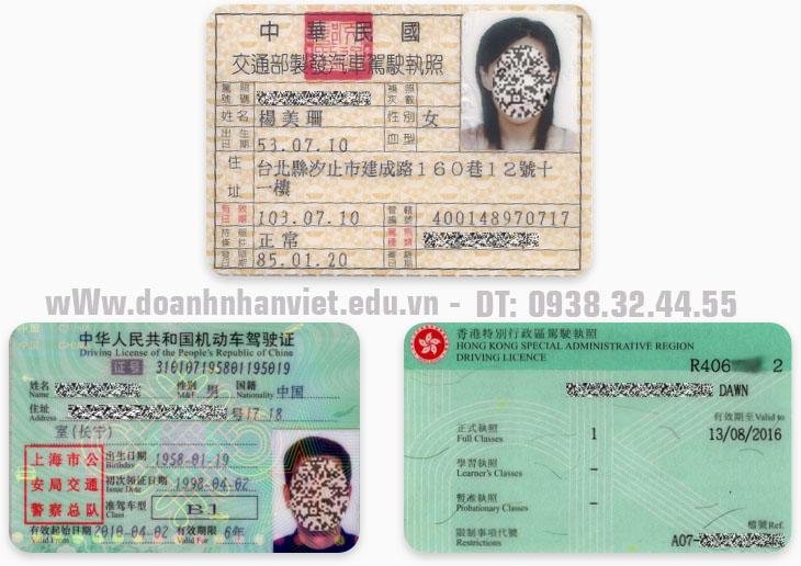 Đổi bằng lái xe Trung Quốc sang Việt Nam cho người nước ngoài