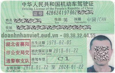 Đổi giấy phép lái xe Trung Quốc sang Việt Nam
