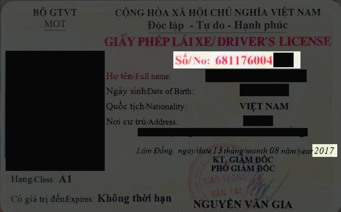 cách kiểm tra thông tin giấy phép lái xe
