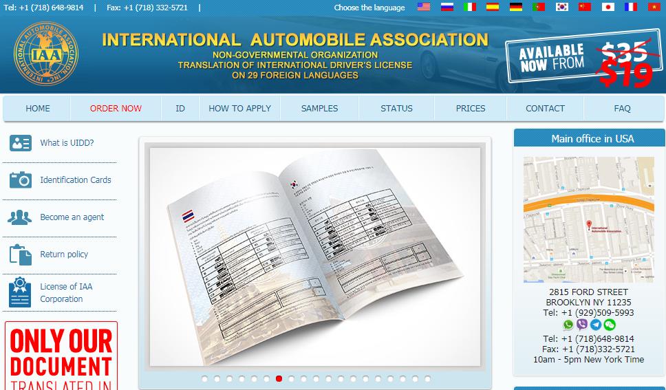 Check bằng lái xe quốc tế IAA thật hay giả