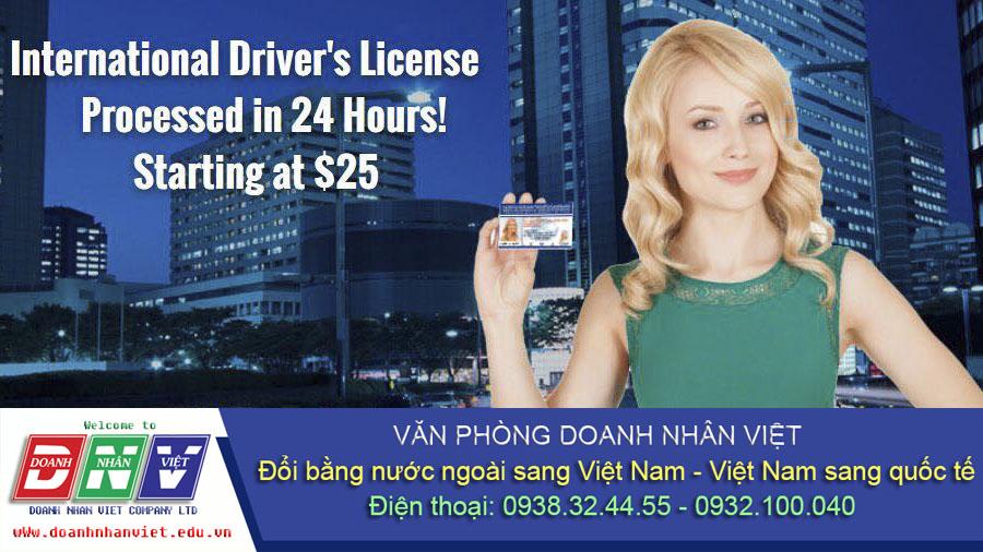 Đổi bằng lái xe quốc tế bao nhiêu tiền