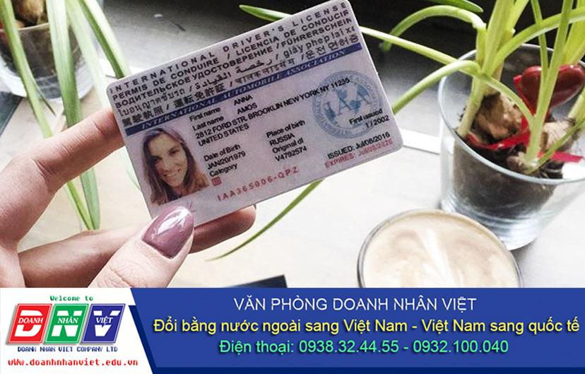 Đổi giấy phép lái xe quốc tế online
