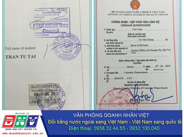 Hợp pháp hóa lãnh sự giấy phép lái xe