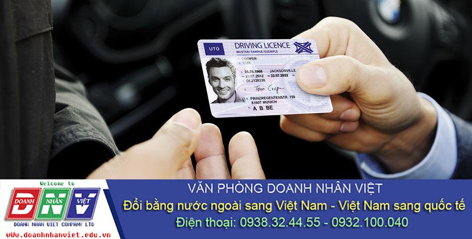 Đổi bằng lái xe nước ngoài tại Việt Nam