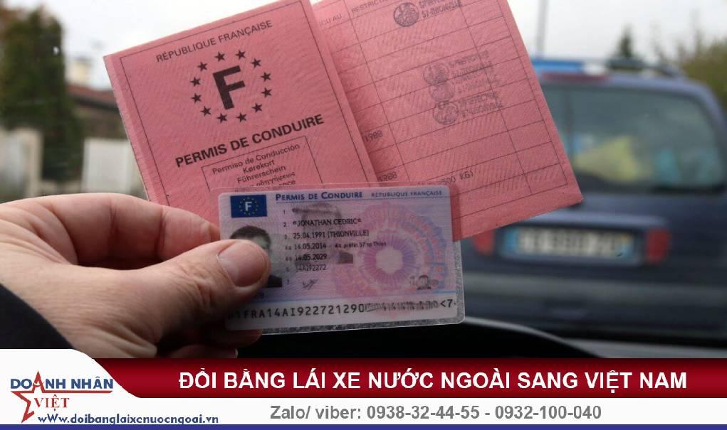 Đổi bằng lái xe Pháp sang Việt Nam